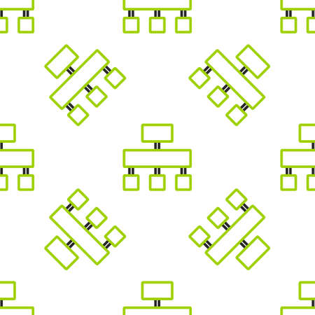 Line Site map icon isolated seamless pattern on white background. Vector Stock Illustratie