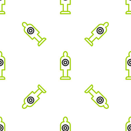 Line Human target sport for shooting icon isolated seamless pattern on white background. Clean target with numbers for shooting range or shooting. Vector