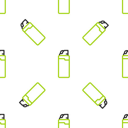 Line Lighter icon isolated seamless pattern on white background. Vector