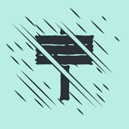 Black Road traffic sign. Signpost icon isolated on green background. Pointer symbol. Street information sign. Direction sign. Glitch style. Vector Ilustração Vetorial