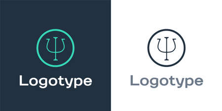 Logotype Psychology icon isolated on white background. Psi symbol. Mental health concept, psychoanalysis analysis and psychotherapy. Logo design template element. Vector Ilustrace