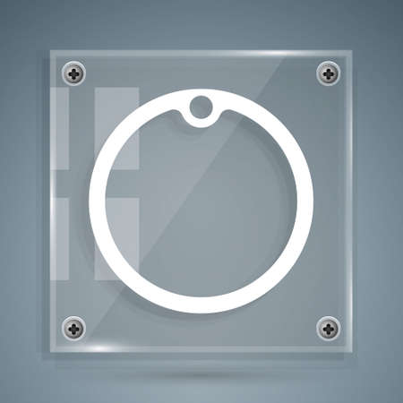 White Cutting board icon isolated on grey background. Chopping Board symbol. Square glass panels. Vector