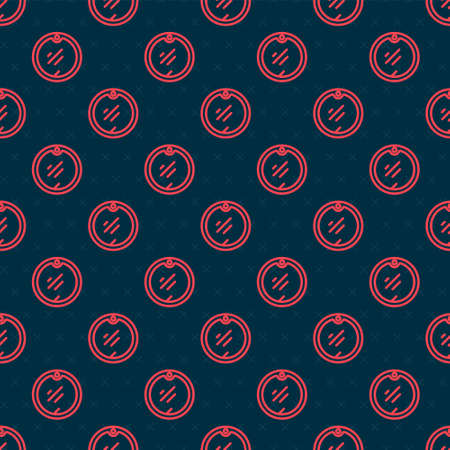 Red line Cutting board icon isolated seamless pattern on black background. Chopping Board symbol. Vector