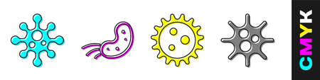 Set Virus, Virus, Virus and Virus icon. Vector
