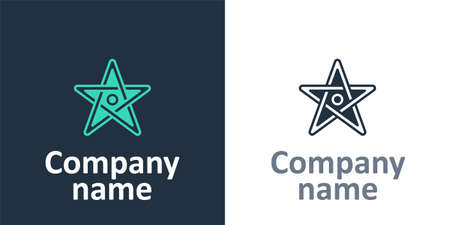 Logotype Pentagram icon isolated on white background. Magic occult star symbol. Logo design template element. Vector
