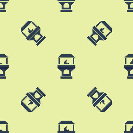 Black Brick stove icon isolated on white background. Brick fireplace, masonry stove, stone oven icon.Set icons colorful. Vector