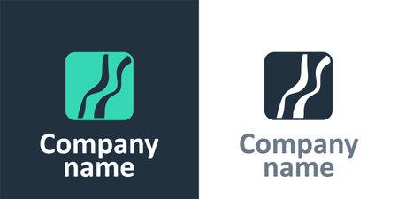 Logotype Snake paw footprint icon isolated on white background.