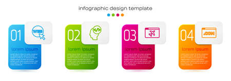 Set line Web and graphic design, Front end development, Website template and UI or UX. Business infographic template. Vector