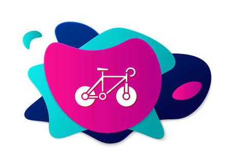 Color Bicycle icon isolated on white background. Bike race. Extreme sport. Sport equipment. Abstract banner with liquid shapes. Vector
