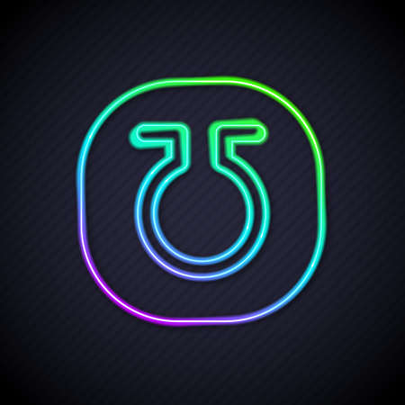 Glowing neon line Life icon isolated on black background. Alchemy icon. Basic mystic elements. Vector