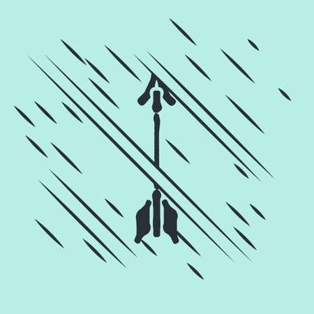 Black Crossed arrows icon isolated on green background. Glitch style. Vector