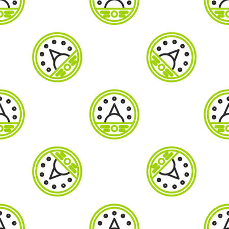 Line Ampere meter, multimeter, voltmeter icon isolated seamless pattern on white background. Instruments for measurement of electric current. Vector Illustration