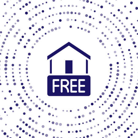 Blue Free home delivery concept for increase the sell stock icon isolated on white background. Abstract circle random dots. Vector Illustration