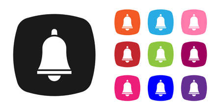 Black Emergency mobile phone call to hospital icon isolated on white background. Set icons colorful. Vector