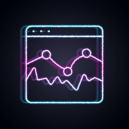 Glowing neon line Music wave equalizer icon isolated on black background. Sound wave. Audio digital equalizer technology, console panel, pulse musical. Vector