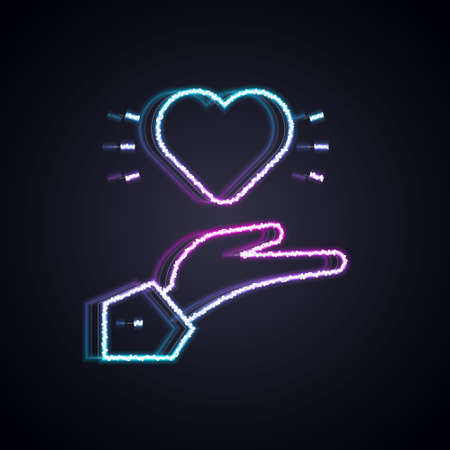 Glowing neon line Pleasant relationship icon isolated on black background. Romantic relationship or pleasant meeting concept. Vector