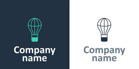 Logotype Hot air balloon icon isolated on white background. Air transport for travel. Logo design template element. Vector Vectores