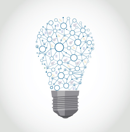 colorful bulb design with bulb networks