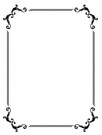 simple flower: picture frame