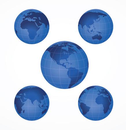 Glossy globe icons. illustration. Ilustrace