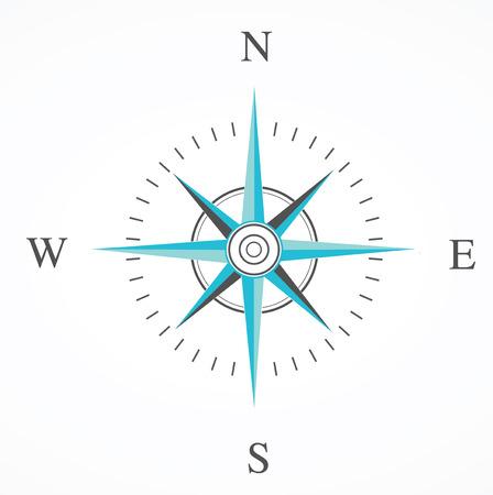 blauwe kompas steeg geïsoleerd op whte