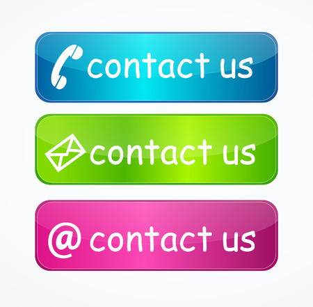 Contact us telephone icon button Vector