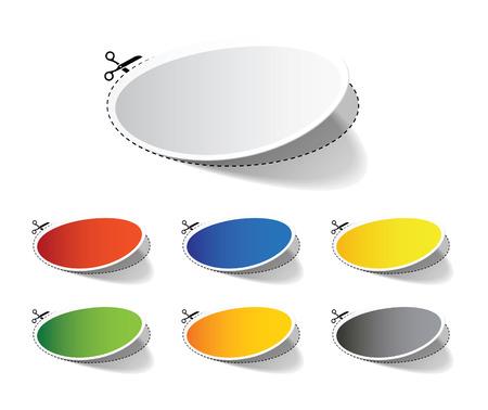 Colorful Label Set Ilustrace