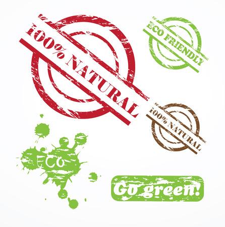 Grunge Natural Stamp Ilustrace