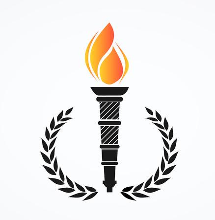 flaming: flaming torch