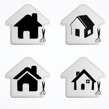 Illustration of home icons