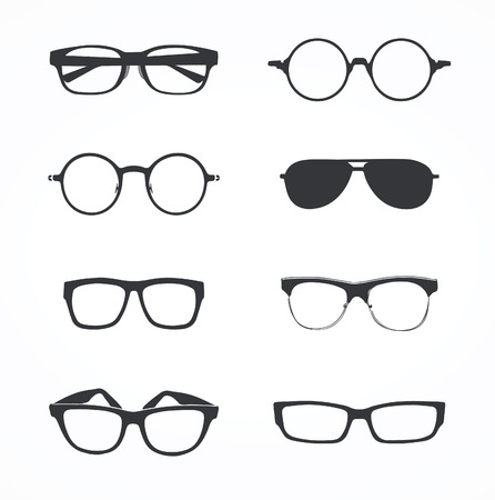 Set of eyeglasses Vectores