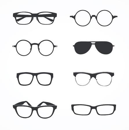 eyeglasses: Set of eyeglasses Illustration