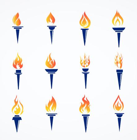 Flaming torch set