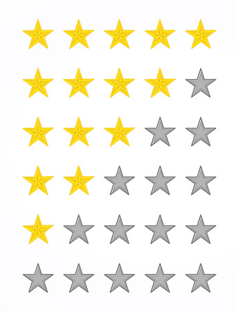 rating stars Vectores