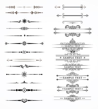 bordure de page: Vector ensemble de décoratif éléments diviseurs frontière