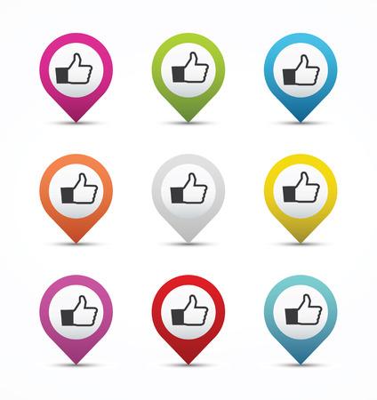 Thumb up navigation button