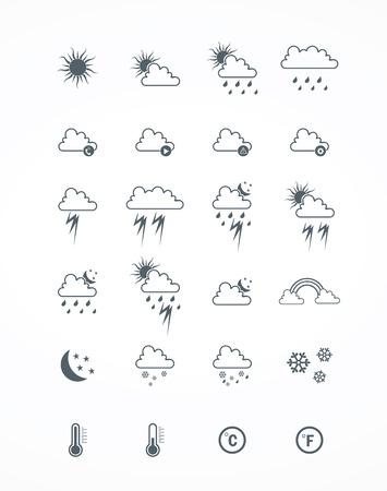 set of weather icon