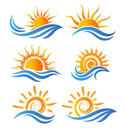 Sun Fun Logo Ilustrace