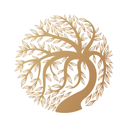 Golden tree 일러스트