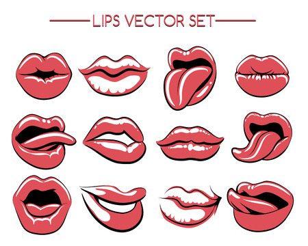woman tongue: Female lips or womans lip gestures.