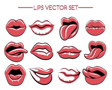gestures: Female lips or womans lip gestures.