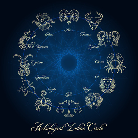 soothsayer: Horoscope zodiac wheel Illustration