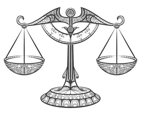 Zodiac sign of Libra Vettoriali