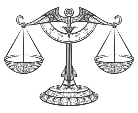 Zodiac sign of Libra 向量圖像