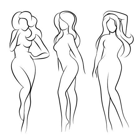 nude women: Woman silhouette or nude woman silhouette