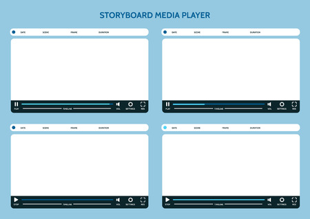 storyboard: Storyboard media player. Video storyboard design template