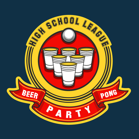 Beer pong party . beer pong game label