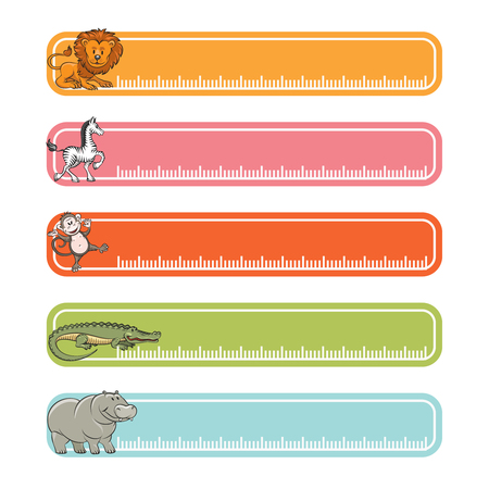 forums: Baby banners with wild animals and rulers for web pages and forums