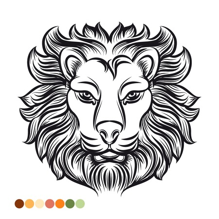 Máscara De Oso Tótem Polinesio De Tiki. Dibujo Para Colorear Fotos ...