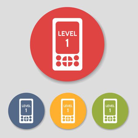 responce: Flat pocket tablet game icons set vector illustration